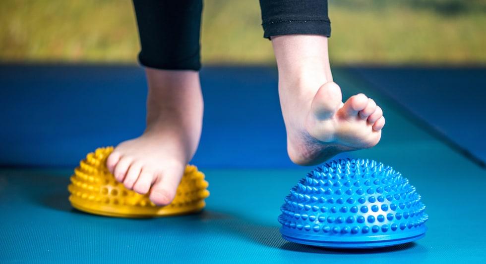 Instrumente fizioterapie platfus - exercitii echilibru