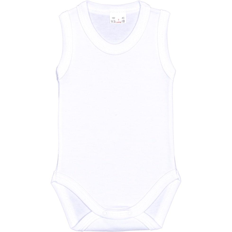 Body maiou alb uni pentru bebelusi