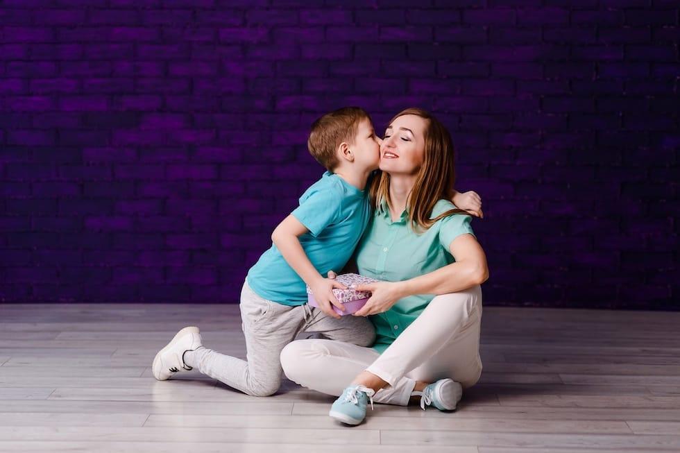Mamica cu baietelul