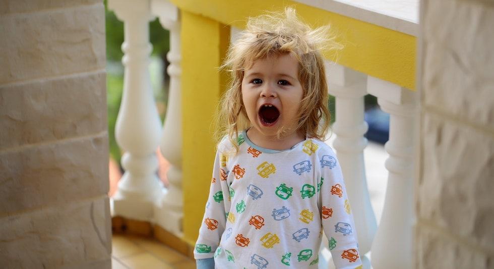 Baietel in pijamale pentru gradinita